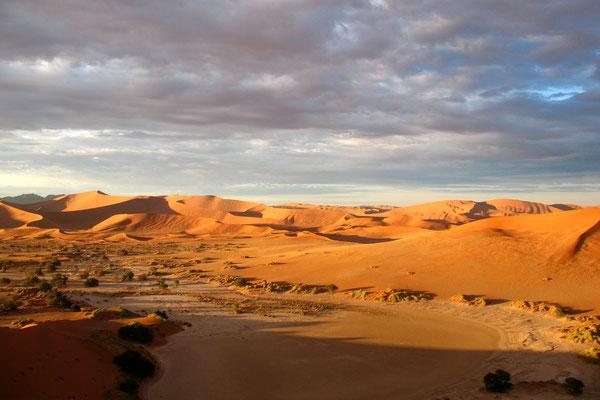 Sunrise at Sossusvlei Sand Dunes - Namib Desert