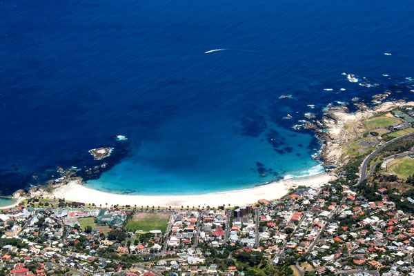 Camps Bay Beach - View from Table Mountain - Cape Town