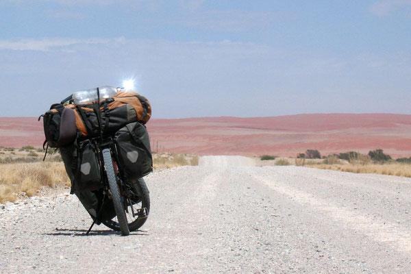 Approaching Sesriem - Namib Desert