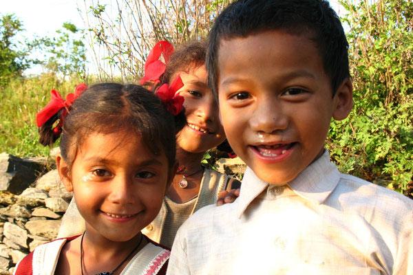 Nepali kids - Bandipur