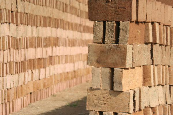 Drying bricks - Yunnan Province
