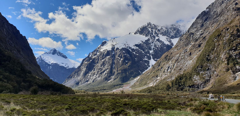 Milford Sound Highway - Fiordland Nationalpark - South Island