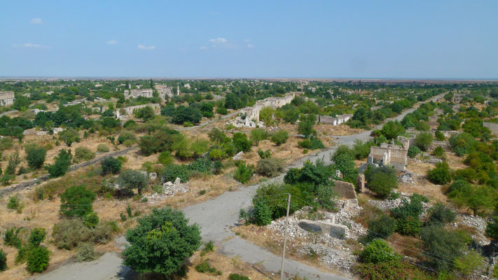Destroyed ghost town Agdam - Restricted ceasefire line area