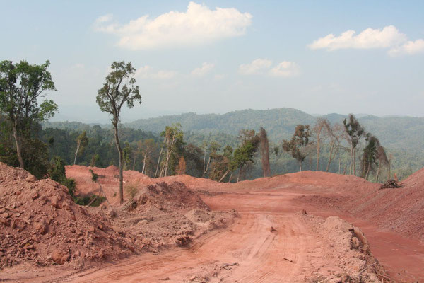 Construction area at Highway 3 - Luang Nam Tha Province