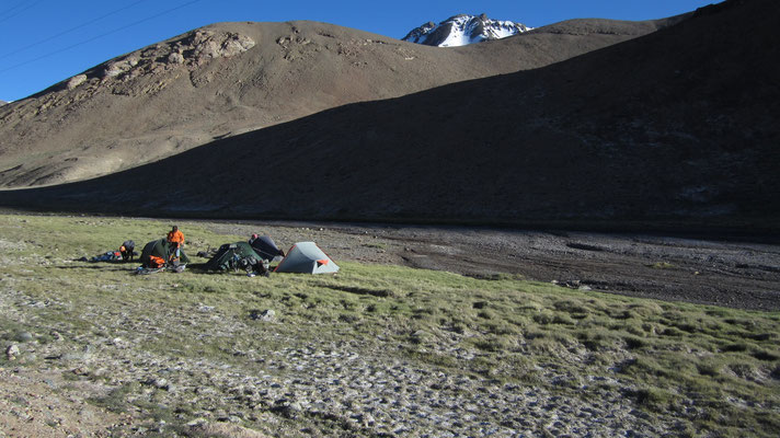 Camp north of Akbajtal Pass 4,655 m - Tajikistan