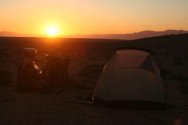 Camp at Atacama Desert