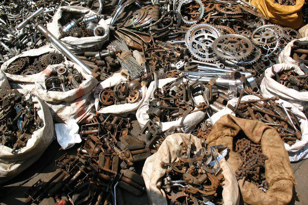 Bicycle spare parts at Chor Bazaar - Mumbai - Maharashtra