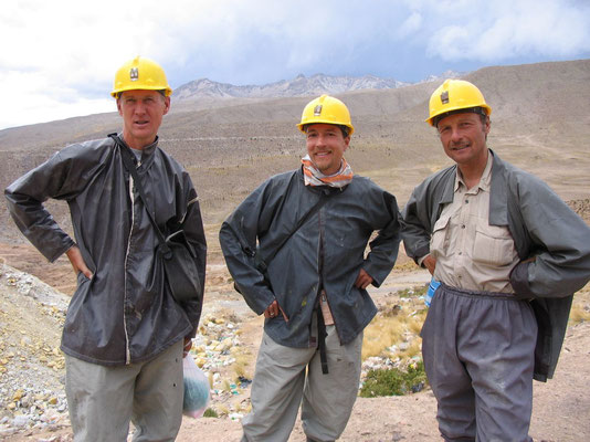 Gerrit, me and Harald at Cerro Rico Mines - Potosi