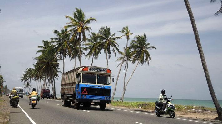 A2 near Ambalangoda