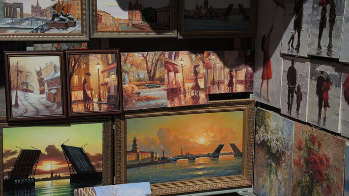 Paintings at Nevsky Prospekt - Saint Petersburg - Russia