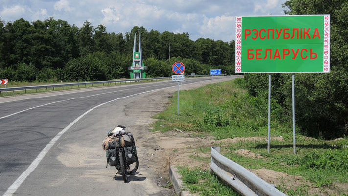 Crossing the border to Belarus