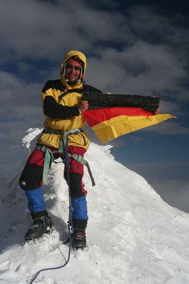 Me at Huayna Potosi summit - 6,088 m - Cordillera Real