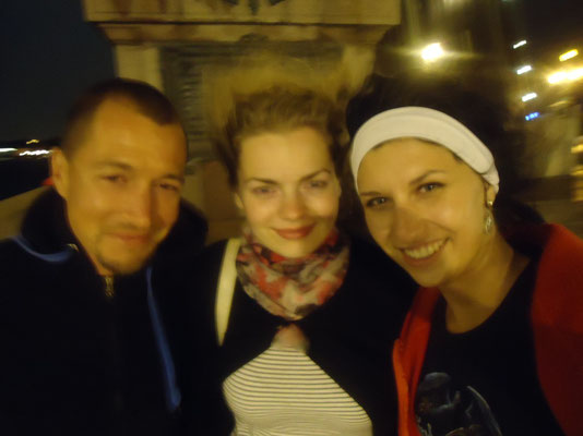Nastja, Marina and me at Troitsky most - Saint Petersburg - Russia