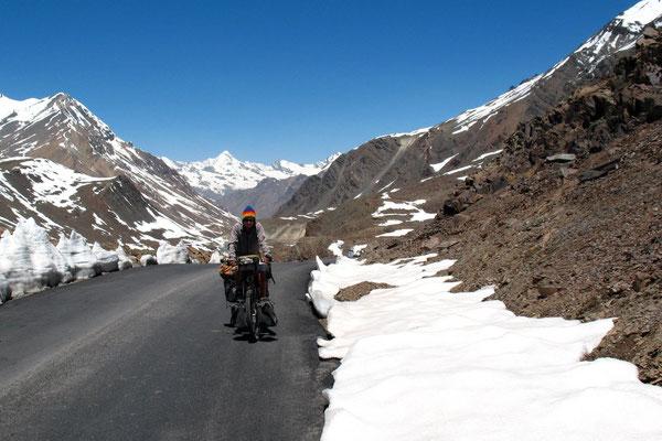 Me approaching Baralacha La - Himachal Pradesh