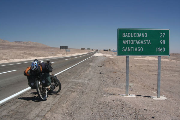 Cycling the Panamerican Highway - Atacama Desert