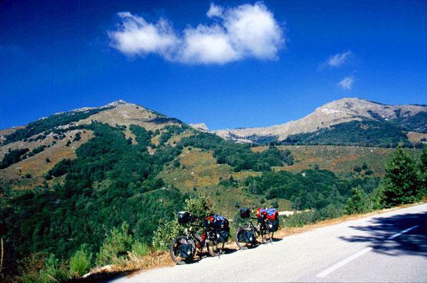 Cycling Col de Verde 1,290 m - Central Corsica