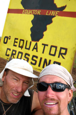 Hugo and me at the Equator line