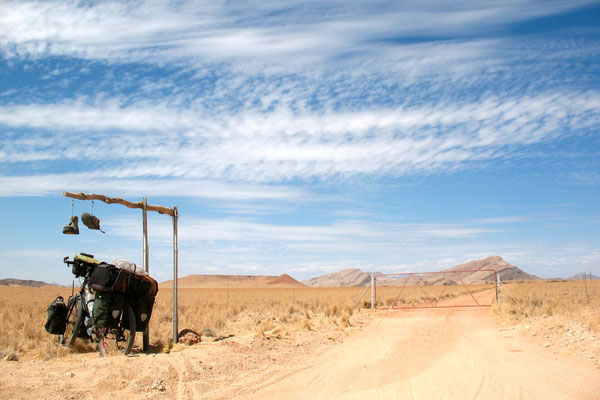 Farm entrance at Highway C14 - Namib Desert