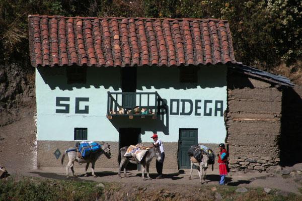 Bodega at Santa Cruz Trek - Cordillera Blanca