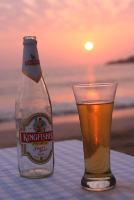 Kingfisher for sunset - Palolem Beach - Goa