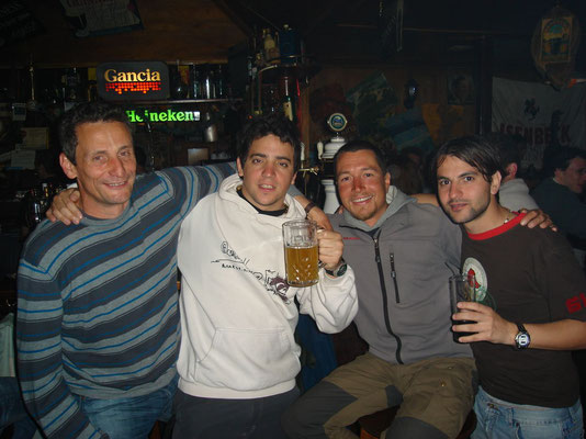 Dave, Fabian, me and Hernan at the Irish Pub - Ushuaia