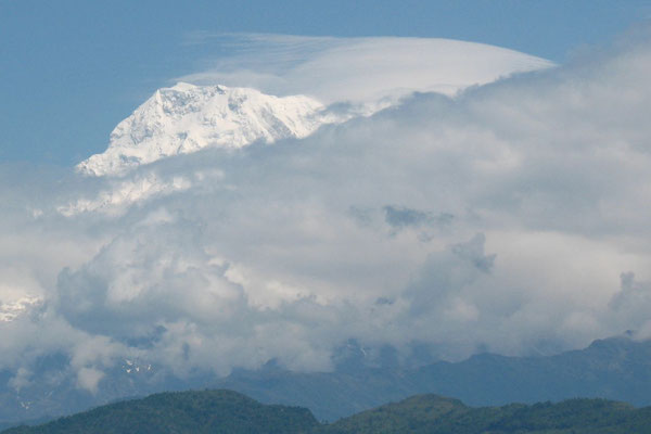 Mount Dhaulagiri 8,167 m - View from Pokhara