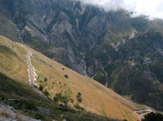 Cycling Llogaraja pass 1,027 m - Southern Albania