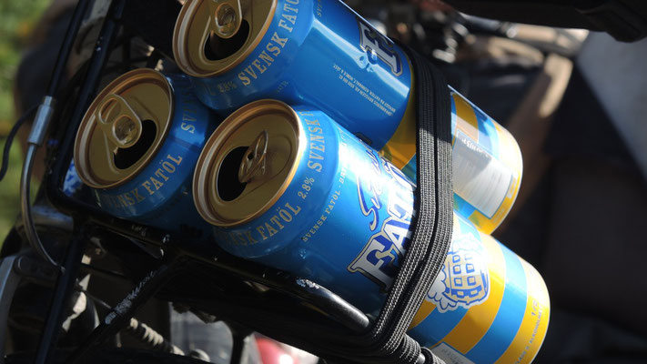 Load of Swedish light beer cans - Sweden