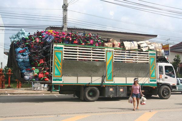Loaded truck - Eastern Thailand