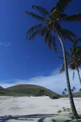 Anakena Beach - Easter Island North Coast