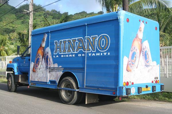 Hinano Beer truck - Bora Bora