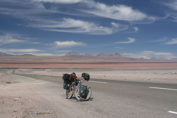 Leaving the Andes - Atacama Desert at 2,440 m