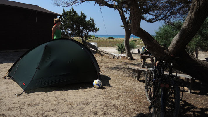 Camp spot at Golden Beach - Karpas Peninsula
