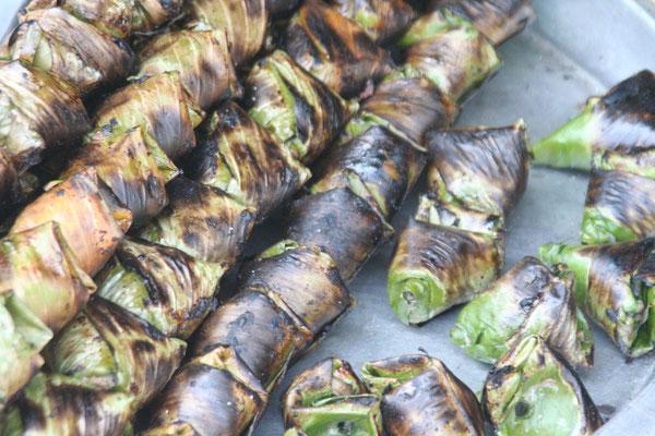 Malaysian roadside snack north of Kemaman - Malaysia East Coast