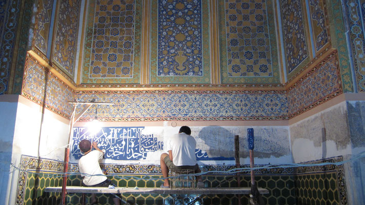 Restoration at Registan - Samarkand - Uzbekistan