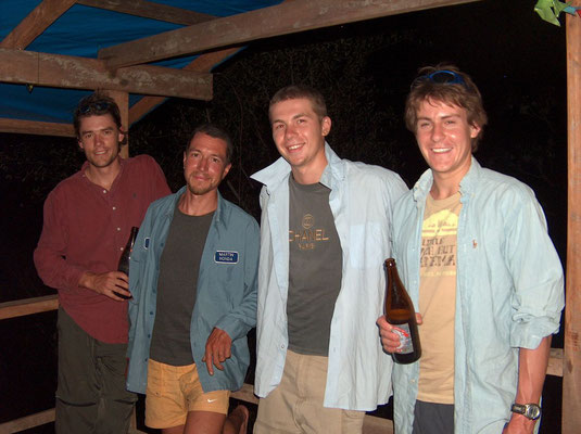 Dan, me, Bartek and Griffo - Amazon Basin