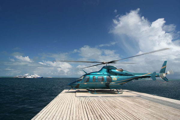 Going for a helicopter ride - Great Barrier Reef - Queensland
