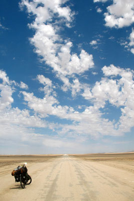 Cycling Highway C14 - Namib Desert east of Walvis Bay