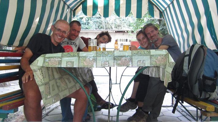 Victor, me, Fabian, Christina and Jordi - Osh - Kyrgyzstan