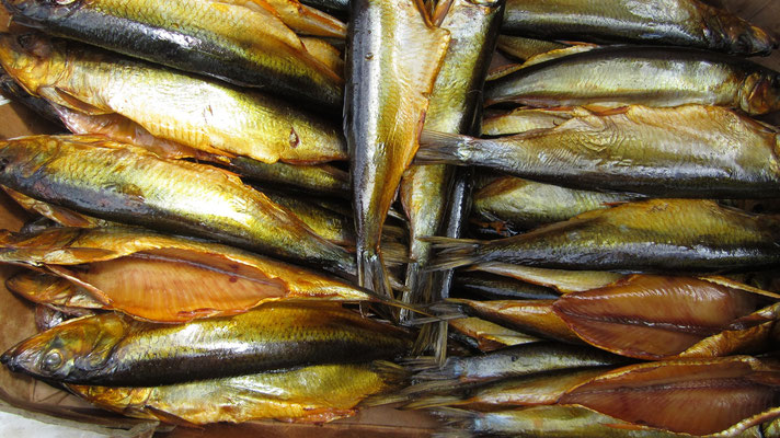 Smoked fish from Issyk-Kul Lake - Colpon-Ata - Kyrgyzstan