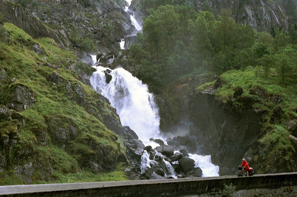Latefossen - North of Skare - Hordaland Province - Southwestern Norway