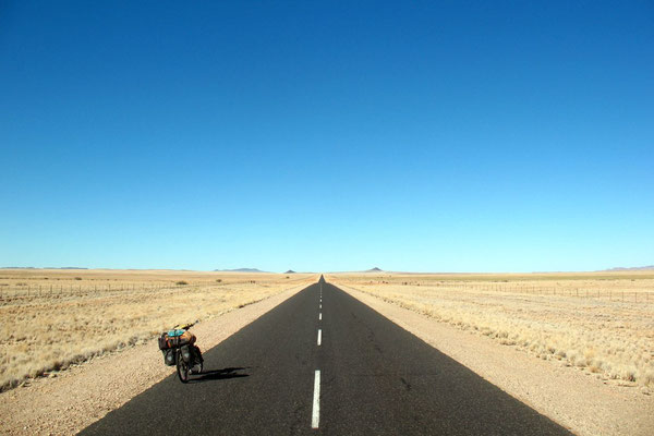 Heading for South Africa - Highway B1 - Southern Namibia