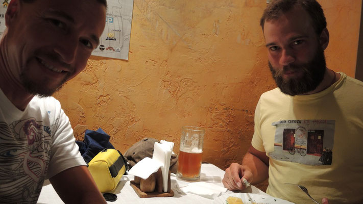 Olof and me having a couple of local beers - Vilnius - Lithuania