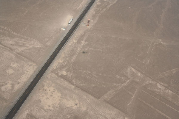 Panamericana crossing the Nazca Lines - Ica Province