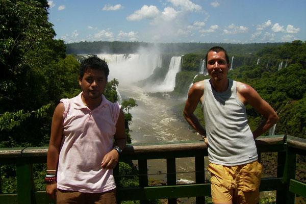 Gustavo and me - Iguazu Falls - Brazil