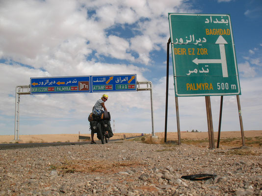 Close to the border to Iraq - Syria