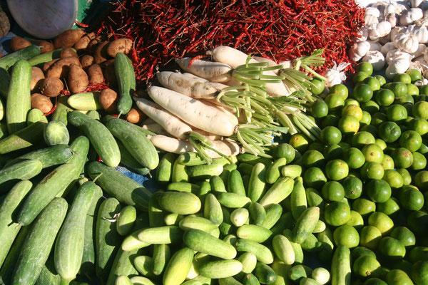 Vegetables at Ranong market - Western Thailand