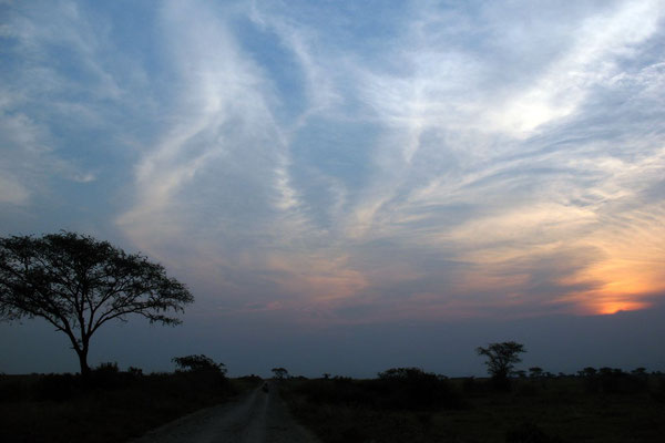 Sunset at Queen Elizabeth National Park - Kasese Province