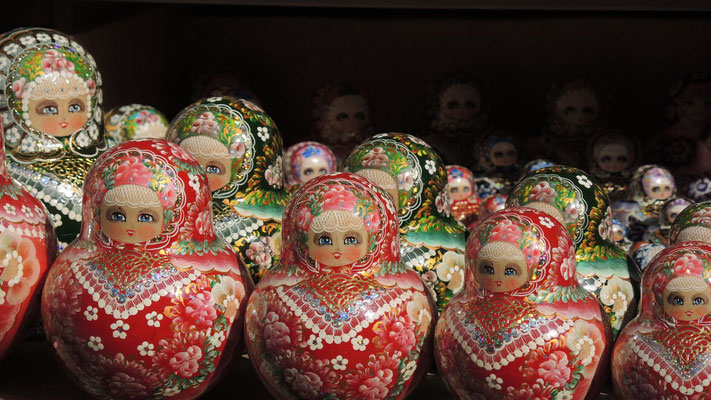 Matryoshkas at Souvenir Market - Saint Petersburg - Russia