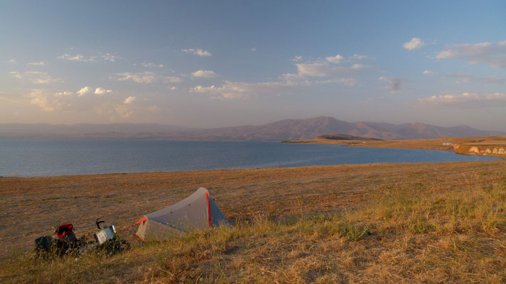 Camp at eastern shore of Lake Van - Kurdistan - Turkey